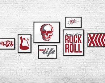Rock N Roll Wall Art