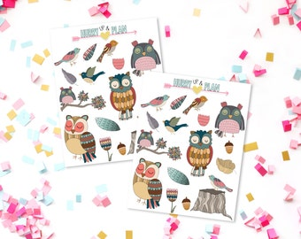 Owl and Bird stickers