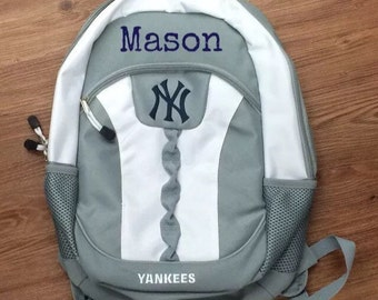 Personalized Yankees school backpack with any name 18 inches sports school backpack name