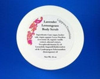 Lavender Lemongrass Body Scrub 16 oz