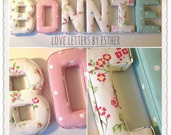 Wall letters, fabric letters, nursery decor, baby gift, new baby, baby name, name letters, gifts girl, gifts for boys, nursery letters