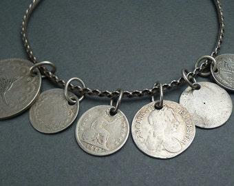 Sterling token bracelet