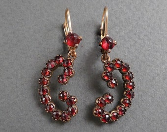 Garnet earrings 10K wires
