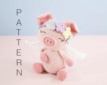 Amigurumi crochet cute pig - Pippa the pig PATTERN ONLY (English)