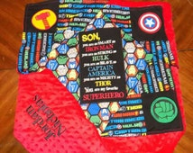 Superhero/Avengers personalized baby blanket