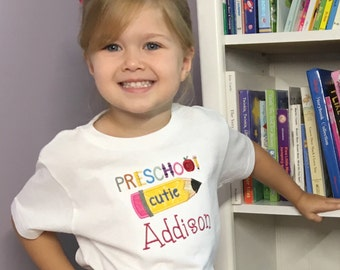 Personalized School Shirt - Back To School Shirt - First Day Of Preschool - Pre-K Shirt - Preschool Shirt For Kids - Kindergarten Shirt