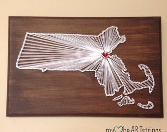 Custom state string art