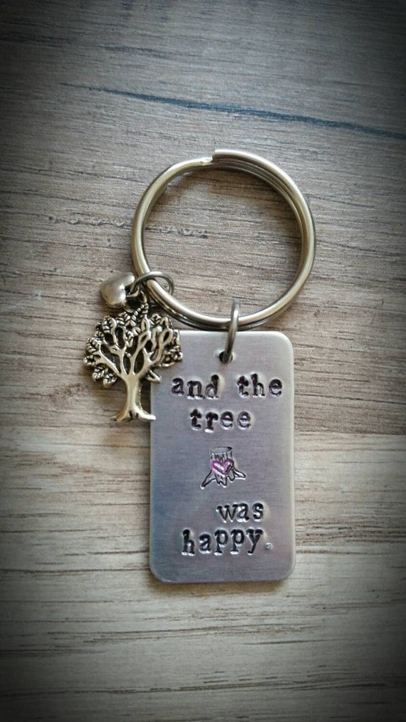 And the Tree Was Happy Keychain - inspired by Shel Silverstein