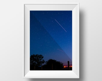 ISS over Abersoch / Space Station / Night Sky / Astro / Stars / Wales / Welsh / Wallart