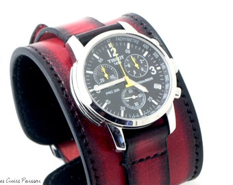 Leather Cuff Watch - Festina - Fall Time