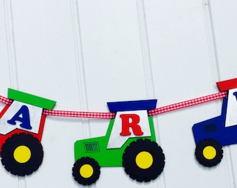 Personalised Tractor Garland (Price per Letter)