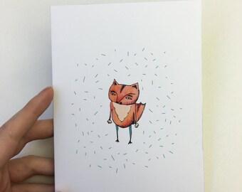 Fox Dude Greetings Card