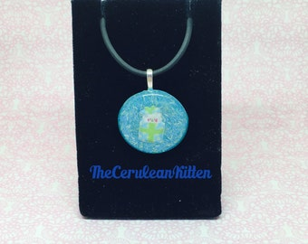 Llama in a Present Box Necklace, Resin Jewelry