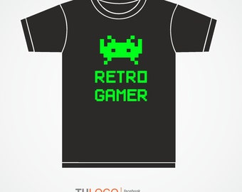 T-shirt Retro Gamer