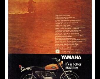 "Vintage Print Ad May 1969 : Yamaha ""It's A Better Machine"" Motorcycle Wall Art Decor 8.5"" x 11"" Print Advertisement"