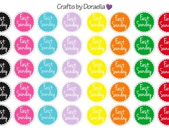 Fast Sunday LDS Stickers, Mormon Stickers, LDS Planner Stickers