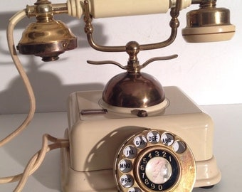 Vintage Japan Rotary Dial Phone Unusual Shabby Chic Decor Telephone