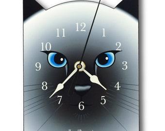 Siamese Cat Clock, wall clock or table clock