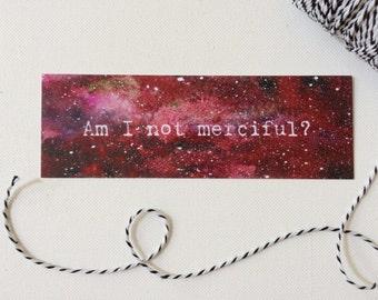 Illuminae, Am I Not Merciful Bookmark, AIDAN