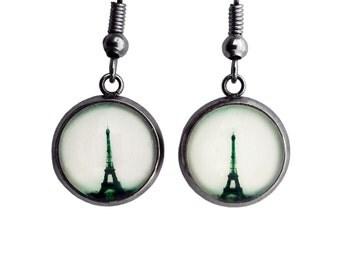 Eiffel Tower Paris France Surgical Steel Earrings