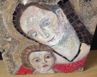 Religious mosiac tile