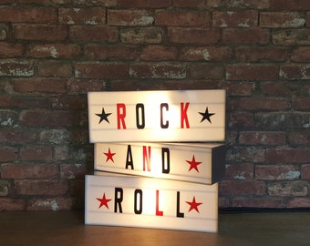 ROCK AND ROLL Light box set