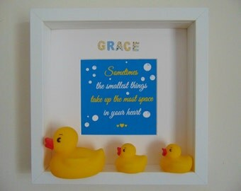 Personalised Childrens Keepsake Ducks Box Frame