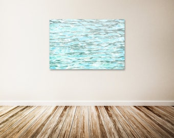 "Water Ripples Canvas Art, Baby Blue Wall Decor, Water Art, Ocean Canvas Art, Blue Water Art Print - ""The Refreshing Feel of Summer"""