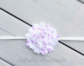 Baby flower headband, Baby Headbands, shabby flower headband, floral print headband, flower headband, baby headband, infant headband