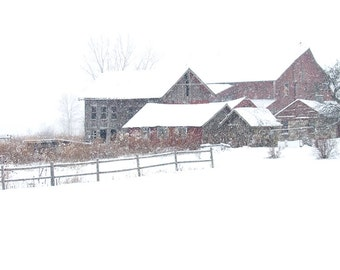 Barn Photography,Photograph of Old Barn,Old Barn Photo Print,Old Barn Photograph,Winter Barn Photo,Picture of Old Barn,Rustic Old Farm Photo