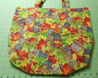 Autumn Leaves and Pinecones Tote Bag