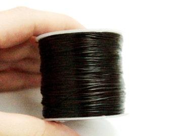 100 meters ( 330 Feet ) 0.8 mm Black ELASTİC Nylon Cord, Stretch Cord, Stretch Bracelets Floss,Jewelry Thread, Beading Wire