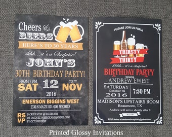 FREE SHIPPING 50th birthday invitation for men 50 birthday