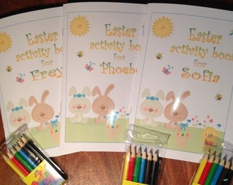 Easter activity booklet for children -  personalised gift