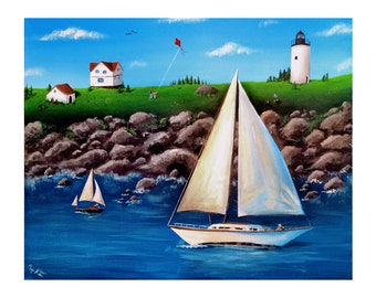 Windy Day at the Coast Print