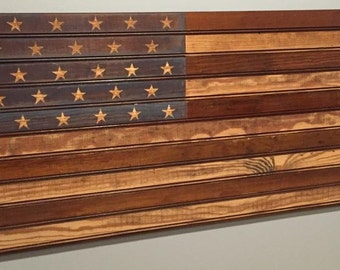 Reclaimed Beadboard American Flag - Reclaimed Wooden American Flag - Beadboard American Flag - Wood American Flag