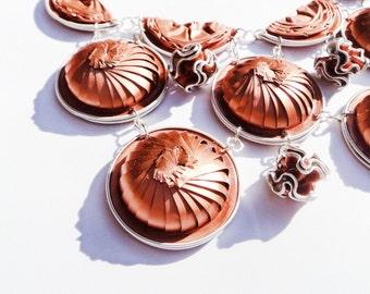 2in1 Nespresso coffee capsules necklace, Nespresso Rose gold coffee capsules collar,Eco friendly jewelry