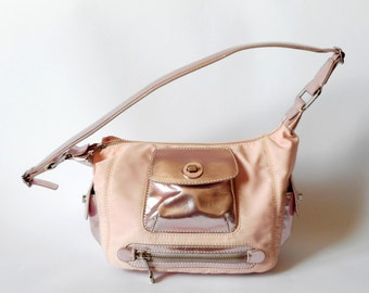 FRANCESCO BIASIA Bag,  Handbag/Shoulderbag,  Fabric and  Leather,  Pinc,  Vintage Bag