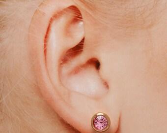 Rose gold earrings, Crystal earrings, Stud earrings, Silver earrings, Gold earrings
