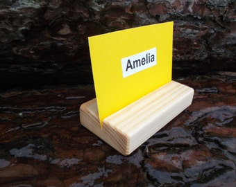 25 Name Tag Holders, Place Card Holders, Rustic Wedding Table Number Holders, Table Number Stands, Name Card Holders, Rustic Wedding Decor