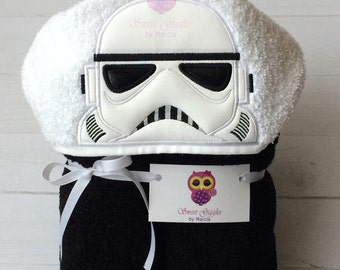 Star Wars storm trooper hooded towel