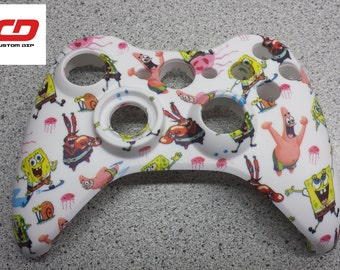 Xbox 360 Controller Shell Hydro Dipped Sponge Bob Square Pants