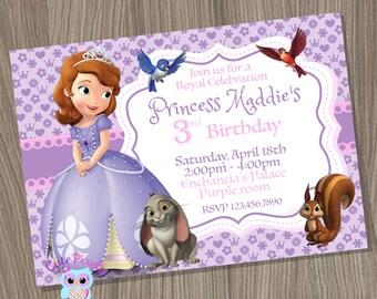 Sofia the first invitation, Princess Sofia Invitation, Princess Birthday Invitation, Sofia the first birthday, Sofia the first party