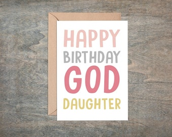 goddaughter birthday card, for my goddaughter on your birthday, goddaughter card, happy birthday goddaughter