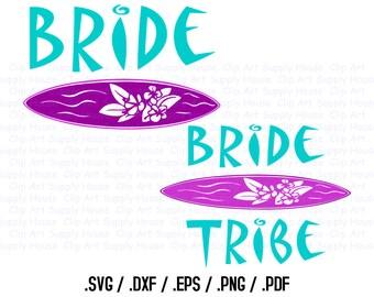 Bride Tribe Svg Clipart Design Files, Luau Party, Silhouette Studio, Cricut Design, Brother Scan Cut, Scal, DXF Files, EPS File - CA35