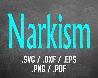 Narkism Font Design Files For Use With Your Silhouette Studio Software, DXF Files, SVG Font, EPS Files, Svg Fonts, Block Font Silhouette