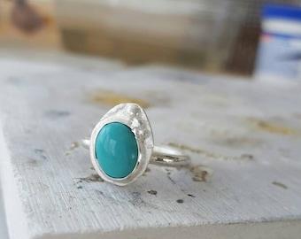 Robbin egg blue turquoise beach ring