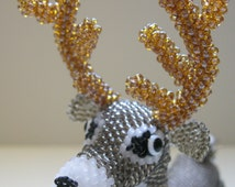 "Pattern / Tutorial Beaded Ornament -  Master class for creating ""Deer"" Bead"