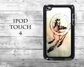 Horses drawing Dreamcatcher art gift idea - iPod Touch 4G case - amazing iPod Touch case,  iPod cover