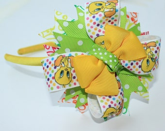 Tweety bird headband Yellow Tweety Bird headband Tweety headband for baby Tweety headband Tweety headband Tweety Bird headband baby headband